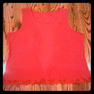 Ladies coldwater creek burnt orange sleeveless